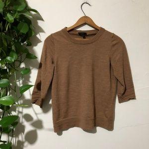 J. Crew 100% Merino Wool Tan Tippi Sweater Small